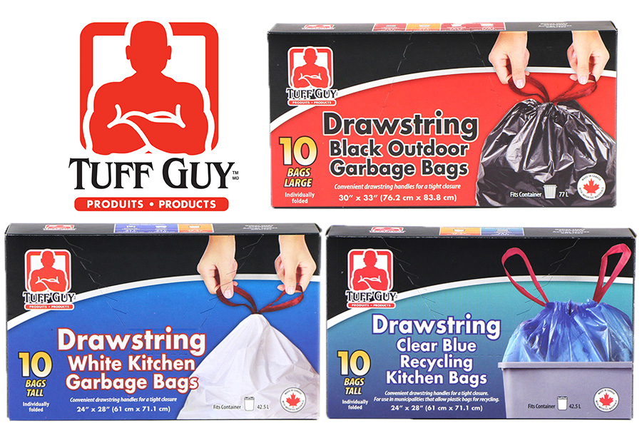 New Product: Tuff Guy Drawstring Garbage Bags