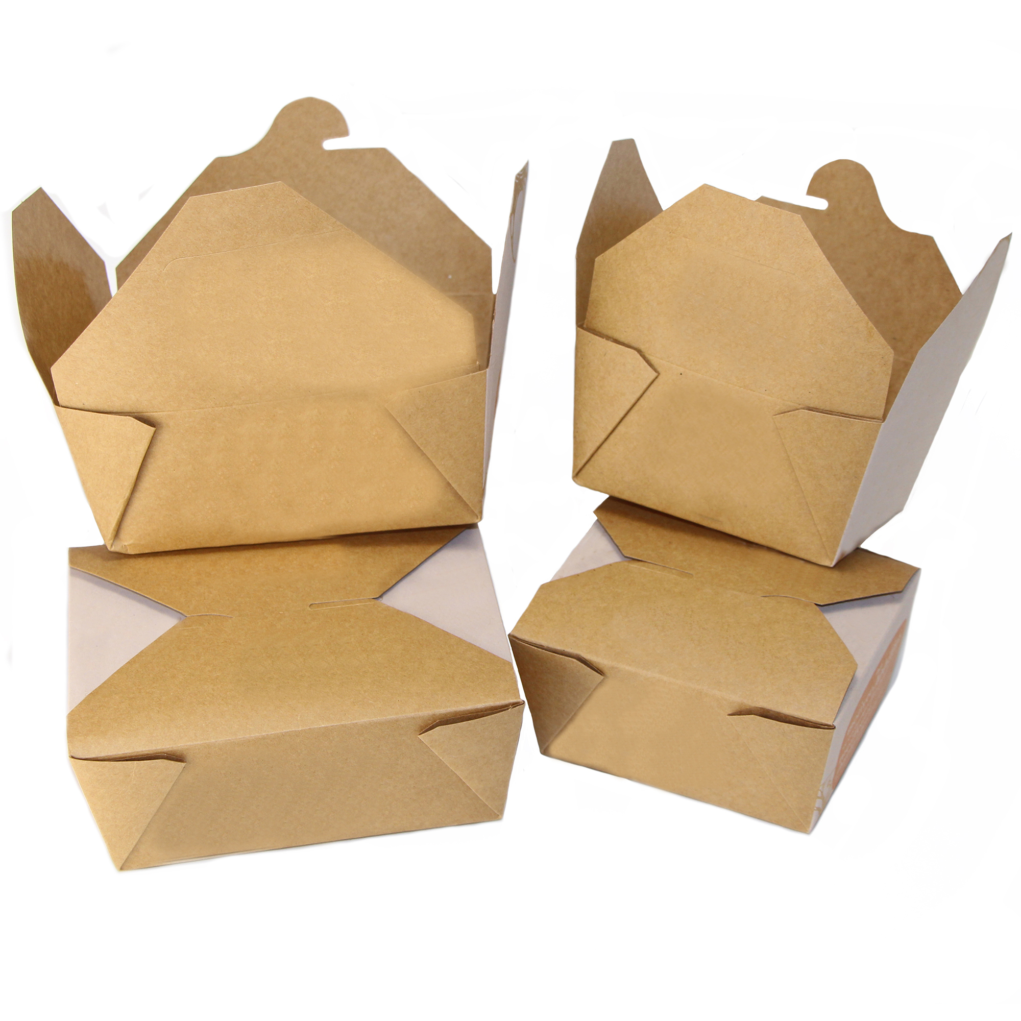 Custom Printed Recycled Kraft Paper Food Container • Wax Coated • Sizes 20, 37 Oz • Minimums: 30,000 Units Per Sku • Superior Print Quality To Show Your Logo/message