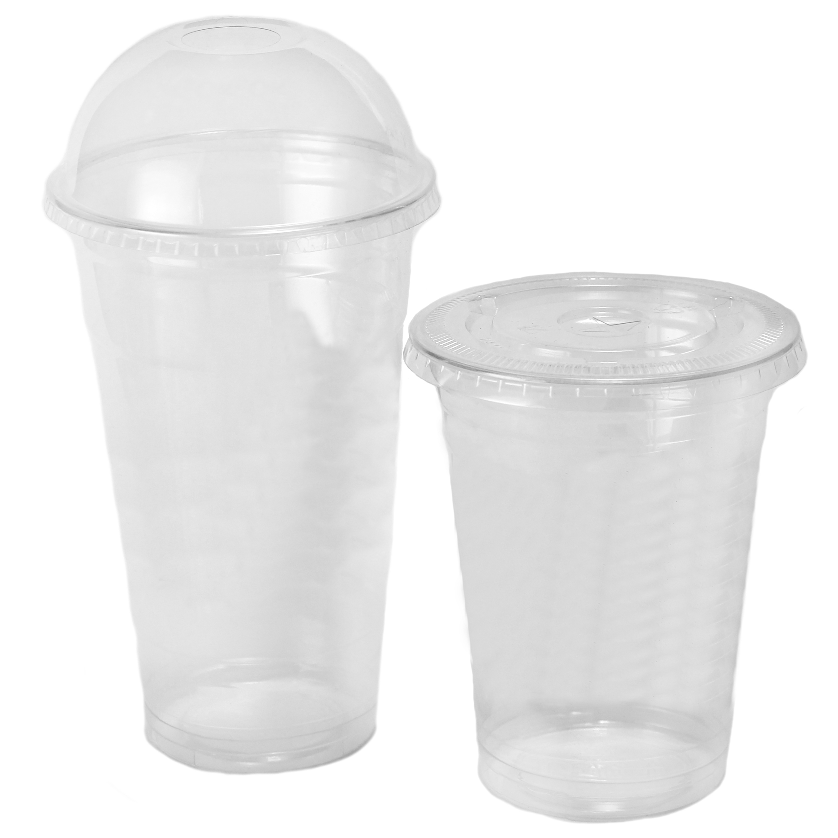 Custom Printed PET Plastic Cold Cups • Sizes: 8, 10, 12, 16, 20, 24 Oz • Minimums: 50 To 100 Cases (1,000 Units/case) • Superior Print Quality To Show Your Logo/message