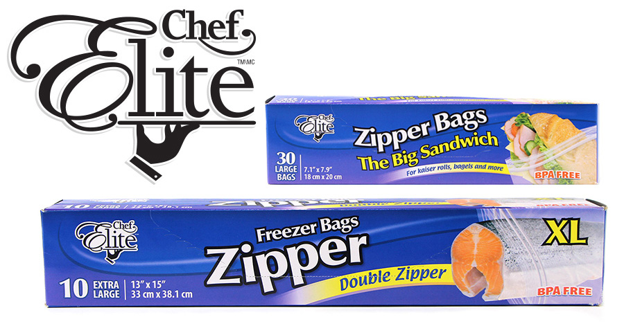 New Product: Chef Elite Zipper Bags