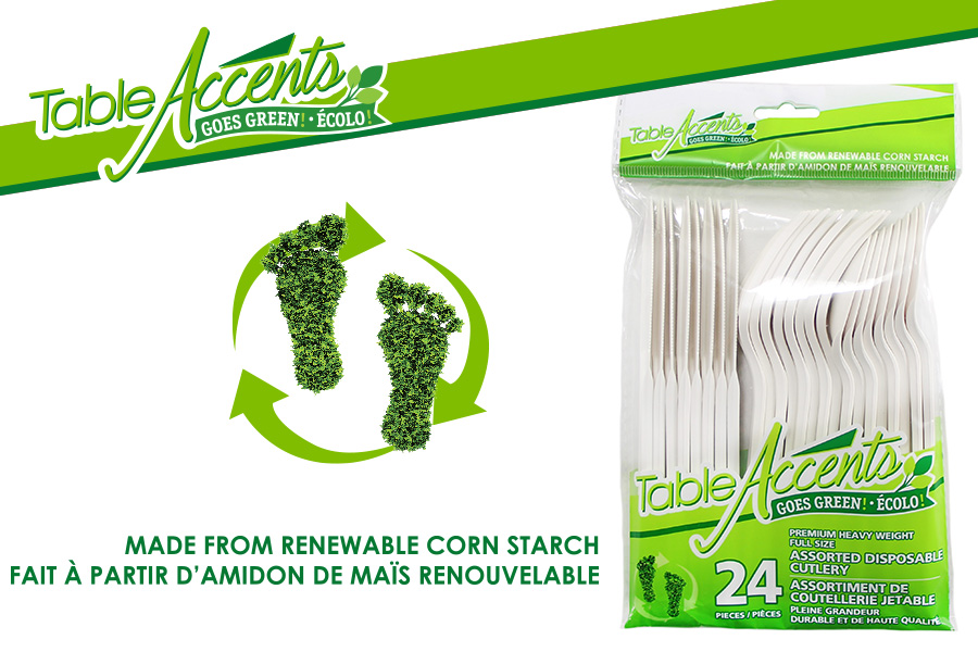 New Product: Table Accents Bioplastic Cutlery