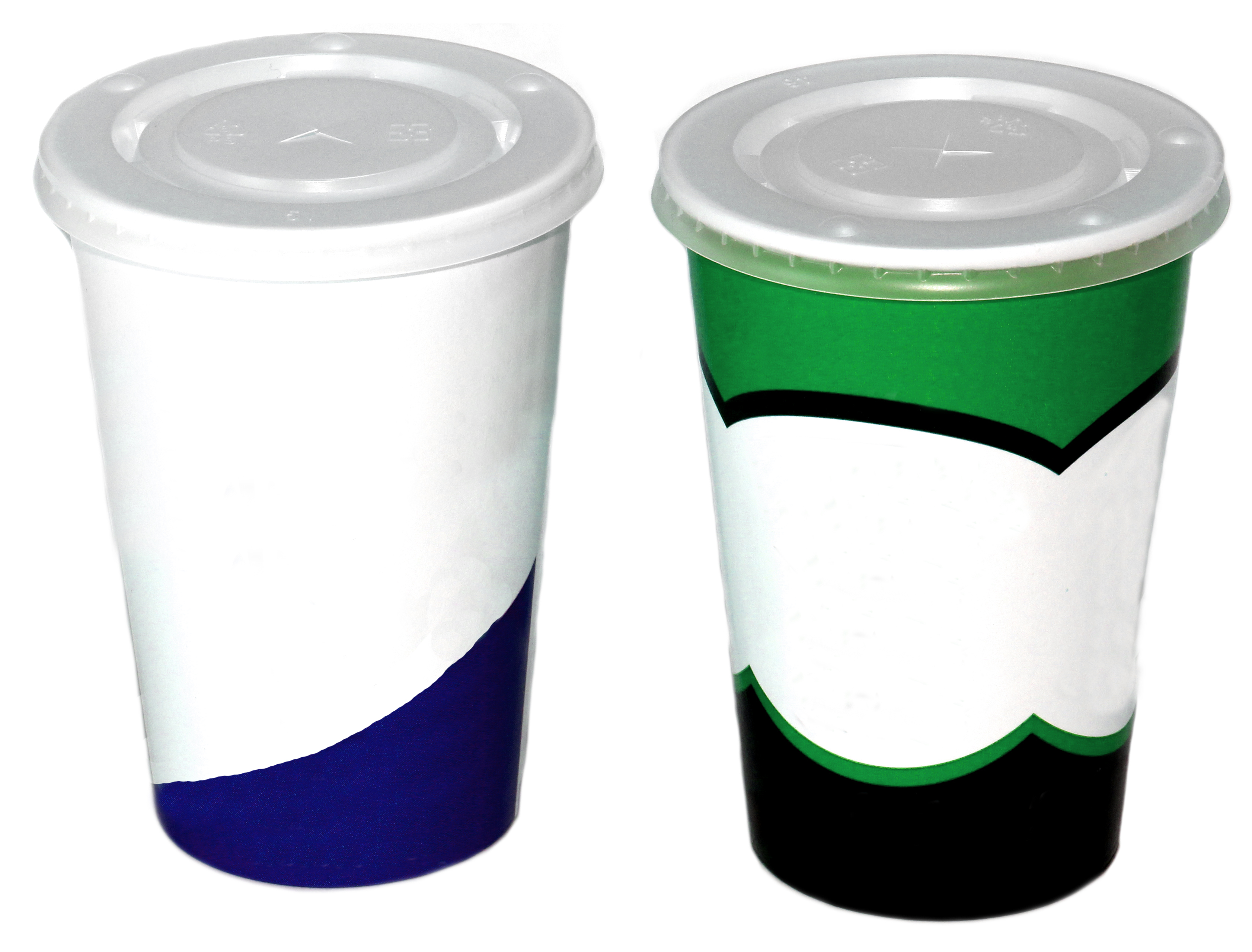 Custom Printed Paper Cold Cups • Sizes: 8, 12, 16, 20, 32 Oz • Minimums: 100 Cases (1,000 Units/case) • Superior Print Quality To Show Your Logo/message