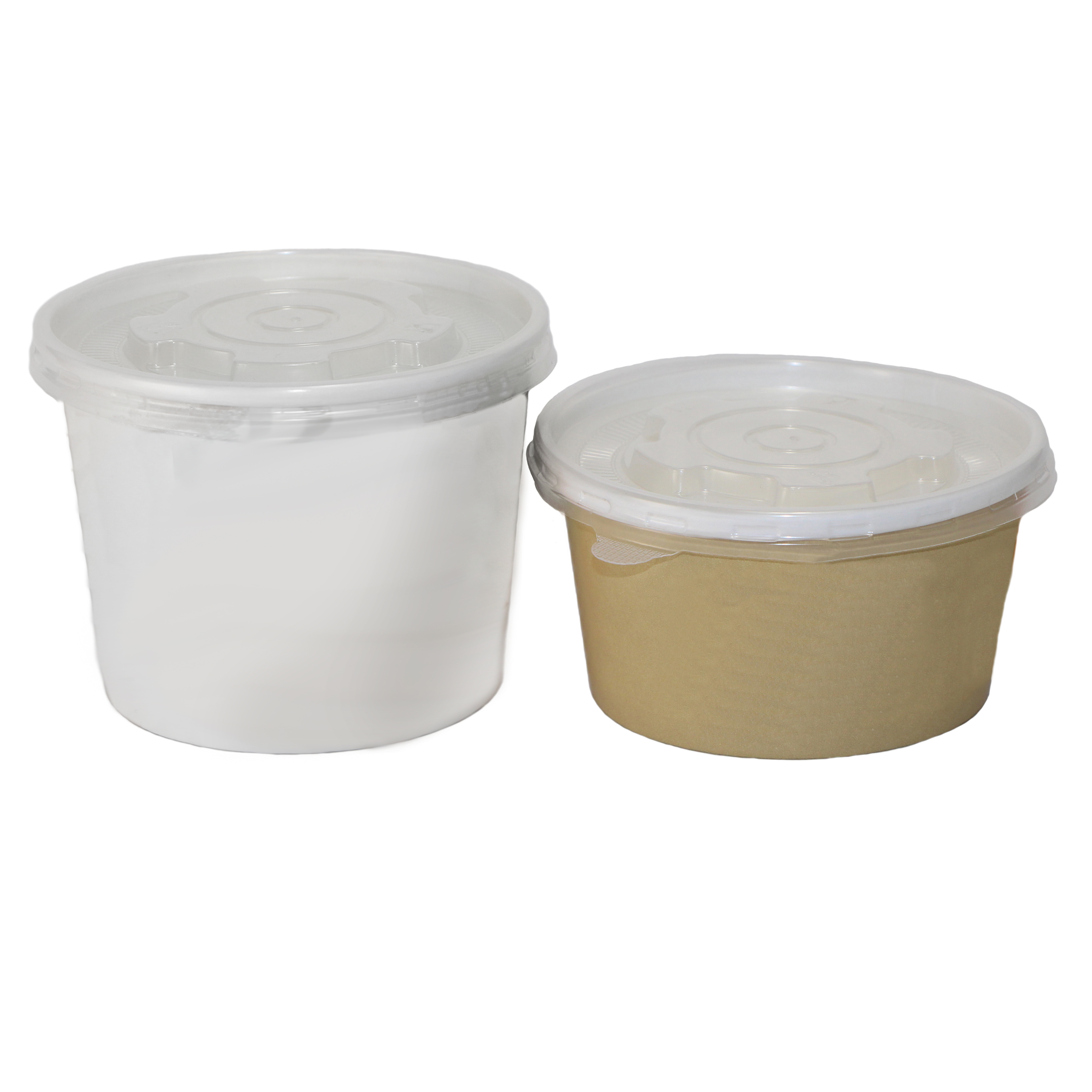Custom Printed Paper Sauce/Soup Bowls • Sizes: 4, 5, 6, 8, 12, 16, 32 Oz • Minimums: 50 To 100 Cases (1,000 Units/case) • Superior Print Quality To Show Your Logo/message